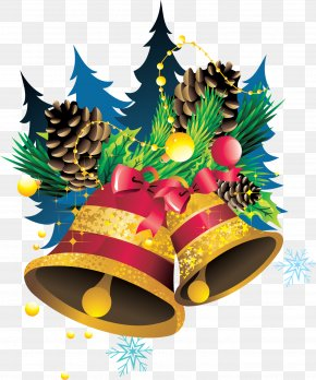 Small Bells - Christmas Ornament Ded Moroz New Year Clip Art PNG