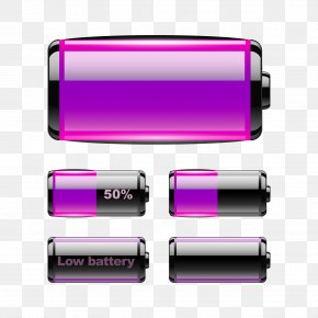 Purple Battery Download - Battery Download Purple PNG