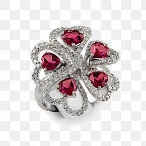 Ruby Diamond Ring - Gemstone Garnet Ruby Diamond PNG