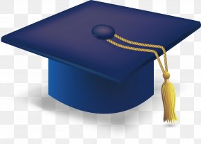 Blue Graduation Cap - Graduation Ceremony Square Academic Cap Hat PNG