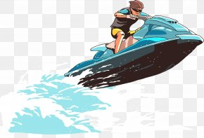 Sea Motorcycle Vector - Personal Water Craft Euclidean Vector Jet Ski Illustration PNG