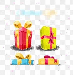 Christmas Gift Box - Light Gift Christmas Box PNG