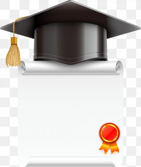 Vector Cartoon Dr. Cap And Certificate - Square Academic Cap Stock Photography Graduation Ceremony Diploma PNG
