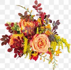 Autumn Roses - Flower Bouquet Autumn Floristry PNG