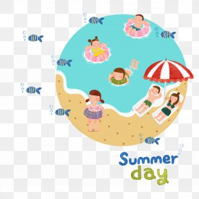 Summer Art Word - Drawing Stock Illustration Beach Illustration PNG