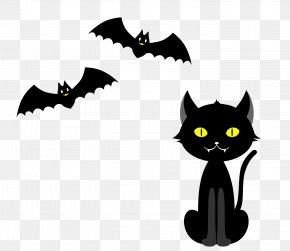 Halloween Material - Black Cat Whiskers Halloween Clip Art PNG