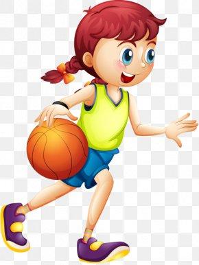 Kids Cartoon - Women's Basketball Cartoon Sport PNG