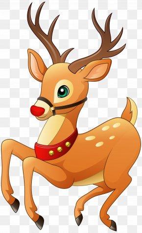 Rudolph Clip Art Image - Rudolph Reindeer Christmas Clip Art PNG