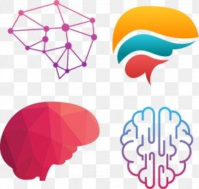 Creative Gradient Brain Structure - Creativity Euclidean Vector PNG