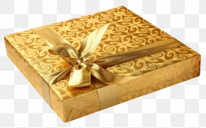Golden Gift Box - Gift Birthday PNG