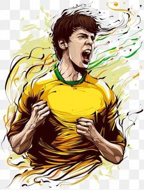 Cartoon Star - Kaká FIFA World Cup Brazil National Football Team Digital Art PNG