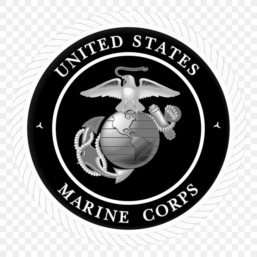 United States Marine Corps United States Department Of Defense Marines Commandant Of The Marine Corps, PNG, 2400x2400px, United States, Badge, Black And White, Brand, Commandant Of The Marine Corps Download Free