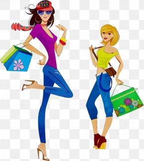 Style Fashion Design - Cartoon Costume Electric Blue Fashion Design Style PNG