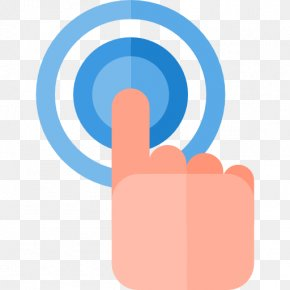 Pointing To The Finger Of A Circle - Finger Download Cartoon PNG