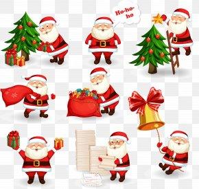 Vector Santa Claus - Santa Claus Christmas Gift Illustration PNG