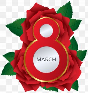 March 8 Red Roses Clipart Image - Rose March 8 Clip Art PNG