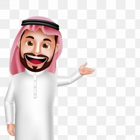 Cartoon Arab Welcome Gestures - Saudi Arabia Arabs Clip Art PNG