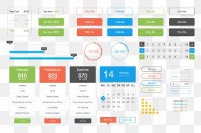 APP Design Collection - User Interface Design Flat Design Button PNG