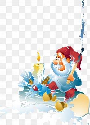 Hand-painted Santa Claus - Santa Claus Christmas Ornament Clip Art PNG