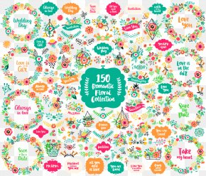 Vector 150 Flower Collection - Flower Euclidean Vector Pattern PNG