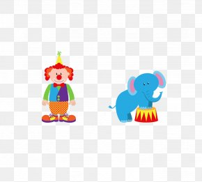 Circus Elephant Show - Performance Circus Elephant Sticker PNG