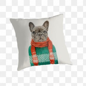 Pillow - French Bulldog Dog Breed Throw Pillows Cushion PNG