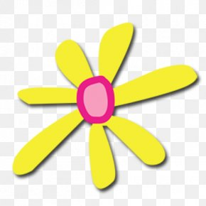 Wheel Yellow - Lily Flower Cartoon PNG