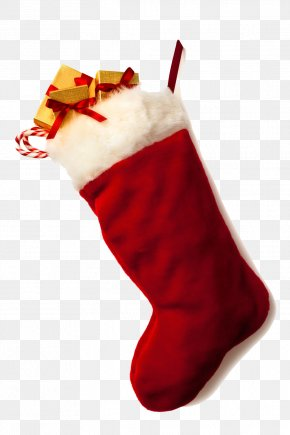 Christmas Stocking Clipart - Christmas Stocking Santa Claus Candy Cane PNG