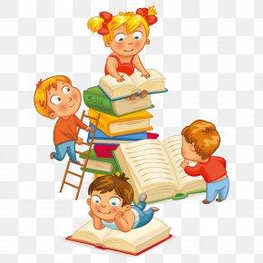 Cartoon Books - Library Child Nati Per Leggere Librarian Reading PNG
