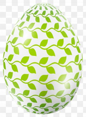 Easter Egg With Leaves Clip Art Image - Red Easter Egg Easter Bunny Clip Art PNG