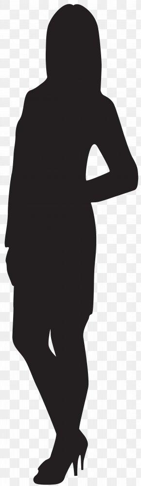 Female Silhouette Clip Art Image - Black And White Homo Sapiens Standing Human Behavior Silhouette PNG