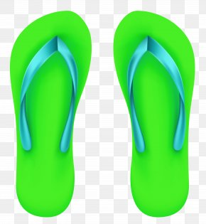 Green Beach Flip Flops Clipart - Image File Formats Lossless Compression PNG