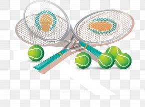 Badminton On The Badminton Court - Badminton Racket Rakieta Tenisowa Tennis Ball PNG