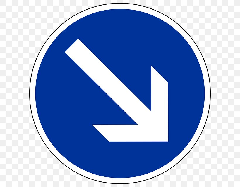 Traffic Sign Direction, Position, Or Indication Sign Arrow Clip Art, PNG, 640x640px, Traffic Sign, Area, Blue, Brand, Information Sign Download Free