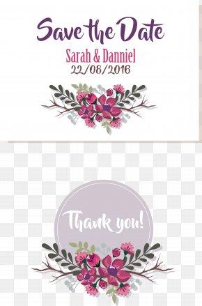 Mothers Day Border Wedding Invitation - Wedding Invitation Floral Design PNG