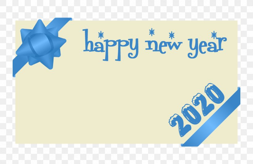 Happy New Year 2020, PNG, 1000x650px, 2020, Happy New Year, Logo, Text, Turquoise Download Free
