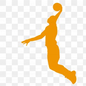 Basketball Player - Basketball Player Slam Dunk Wall Decal Athlete PNG