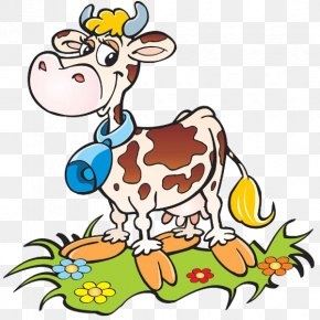 Farm Animal - Cattle Funny Animal Little Cow Clip Art PNG