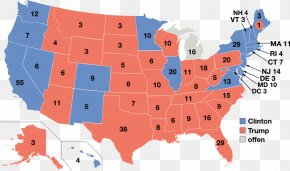 US Presidential Election 2016 - US Presidential Election 2016 United States Electoral College PNG