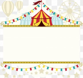 Vector Circus Tent - Circus Clown Party Poster Child PNG