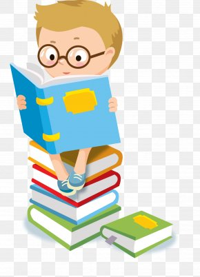 Child - Child Reading Clip Art PNG