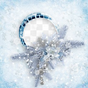Snowflake Frame - Digital Photo Frame Christmas Picture Frame PNG