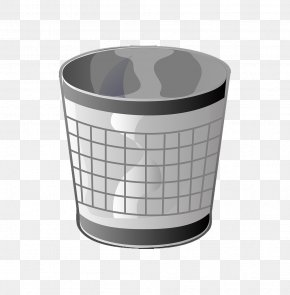 Cartoon Reticulated Trash Can - Waste Container Recycling Bin Clip Art PNG