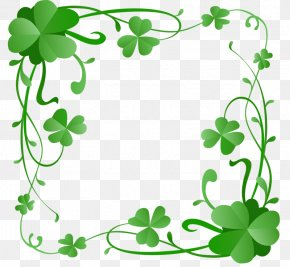 Saint Patrick's Day - Saint Patrick's Day Clover 17 March Shamrock Clip Art PNG
