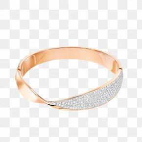 Creative Twist With Diamond Bracelet - Bangle Swarovski AG Bracelet Rhodium Plating PNG
