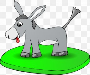 Donkey On The Grass - Donkey Free Content Clip Art PNG
