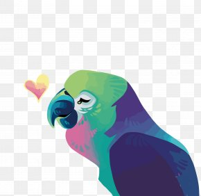 Vector Watercolor Parrot - Parrot Macaw PNG