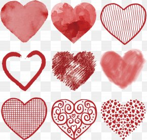 Vector Hand-drawn Heart - Heart Euclidean Vector Clip Art PNG