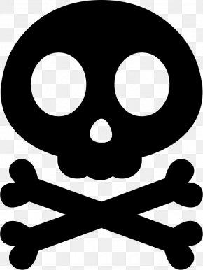 Skull - Skull And Crossbones Skull And Bones Stencil Human Skull Symbolism PNG