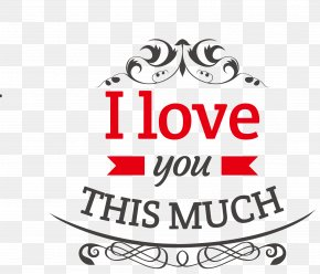 I Love You,Font Design PNG